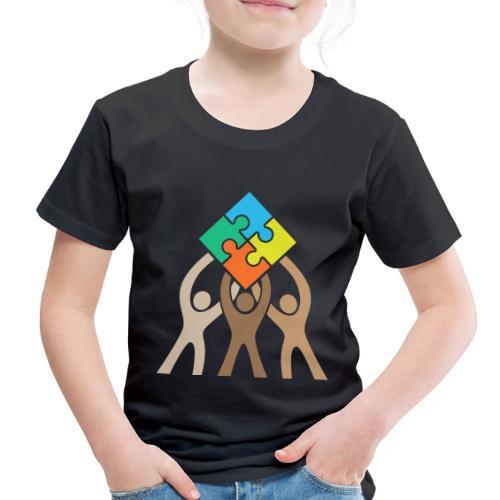 Teamwork and Unity Jigsaw Puzzle Logo - Toddler Premium T-Shirt