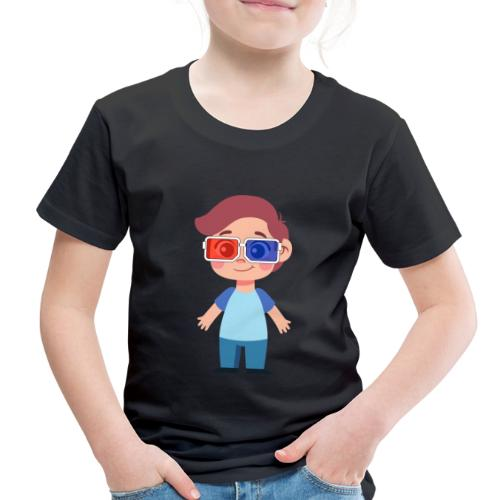Boy with eye 3D glasses - Toddler Premium T-Shirt
