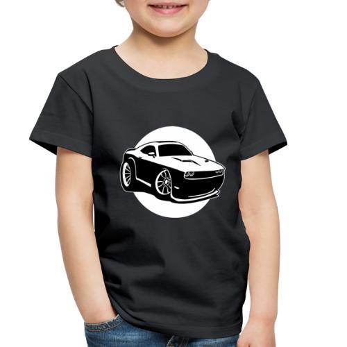 Modern American Muscle Car Cartoon Illustration - Toddler Premium T-Shirt