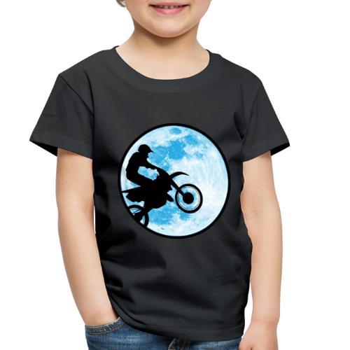 Motocross Motorcycle Blue Moon - Toddler Premium T-Shirt
