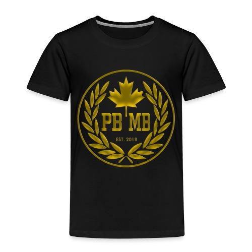 pbmb logo gold - Toddler Premium T-Shirt