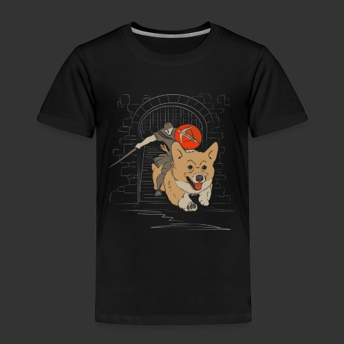 A Corgi Knight charges into battle - Toddler Premium T-Shirt