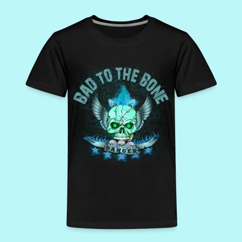 Bad to the bone blue hoodie - Toddler Premium T-Shirt