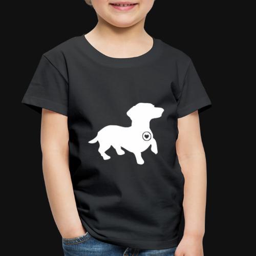 Dachshund silhouette white - Toddler Premium T-Shirt
