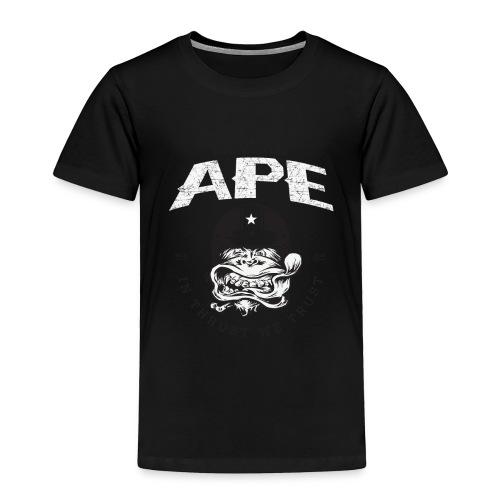 The_Two_Wheeled_Ape_Full_Throttle - Toddler Premium T-Shirt