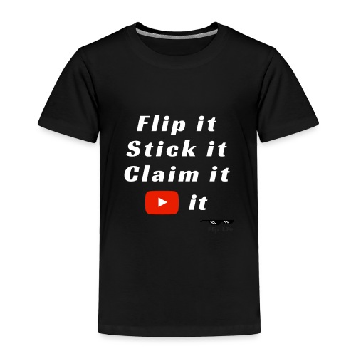 Flip It White Design T-Shirt - Back Flip Inverted - Toddler Premium T-Shirt