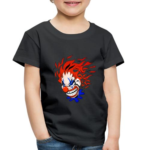 Psycho Crazy Clown Cartoon - Toddler Premium T-Shirt