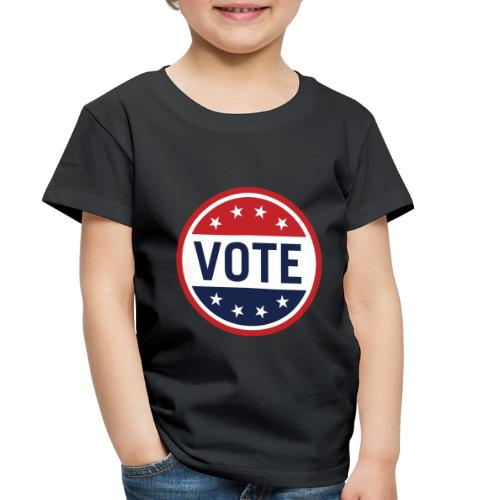 Vote Red, White and Blue with Stars - Toddler Premium T-Shirt
