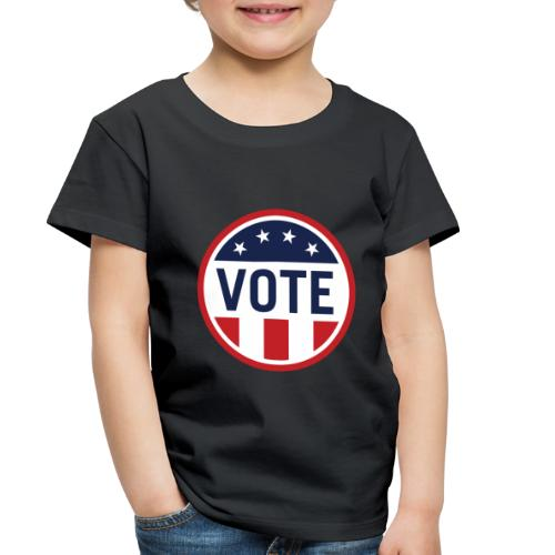 Vote Red White and Blue Stars and Stripes - Toddler Premium T-Shirt