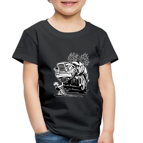 Cement Truck Mixer Cartoon - Toddler Premium T-Shirt