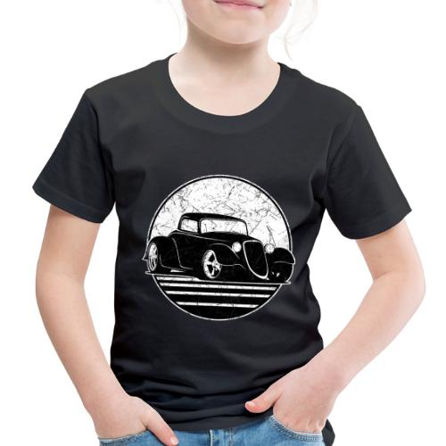 Retro Hot Rod Grungy Sunset Illustration - Toddler Premium T-Shirt