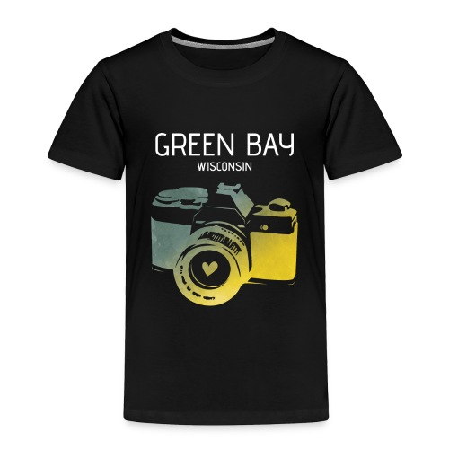 Green Bay camera with heart - Toddler Premium T-Shirt