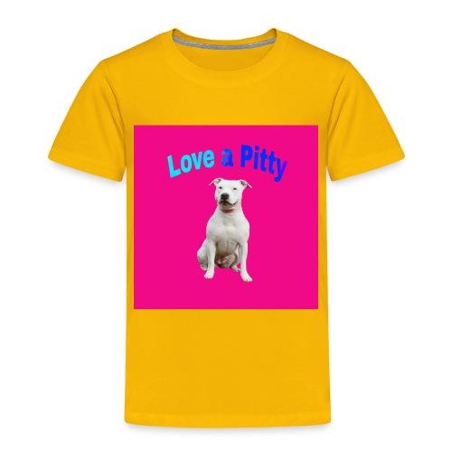 Pink Pit Bull - Toddler Premium T-Shirt