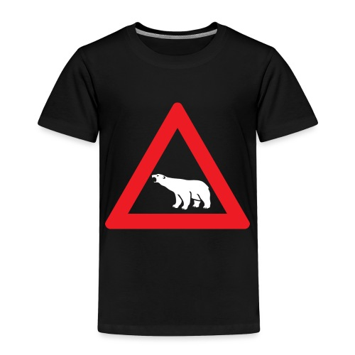 Polar Bear Road Sign - Toddler Premium T-Shirt