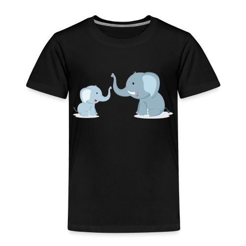 Father and Baby Son Elephant - Toddler Premium T-Shirt