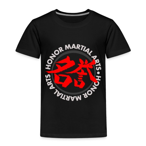 Honor Martial Arts Kanji Design Light Shirts - Toddler Premium T-Shirt