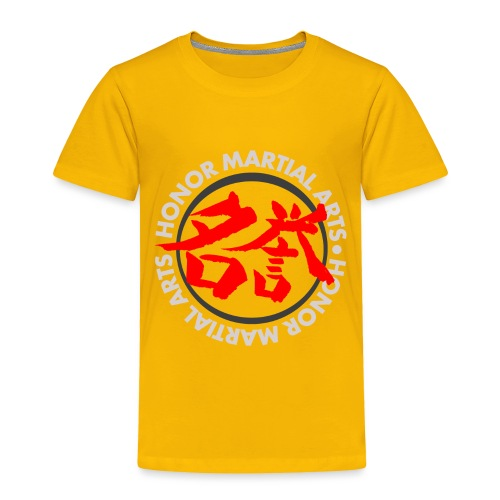 Honor Martial Arts Kanji Design Light Shirts - Toddler Premium T-Shirt