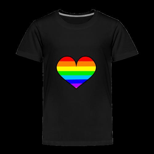 RAINBOW HEART - Toddler Premium T-Shirt
