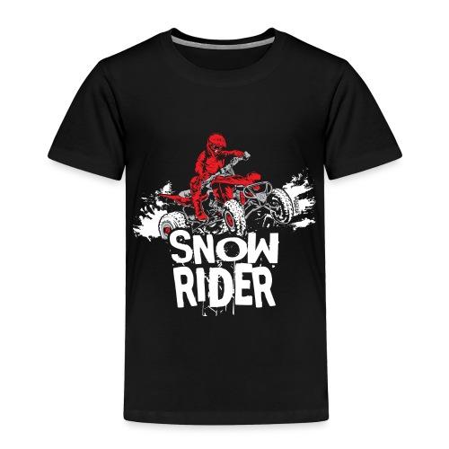 ATV Quad Snow Rider - Toddler Premium T-Shirt