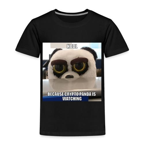 Crypto Panda Is Watching - Toddler Premium T-Shirt