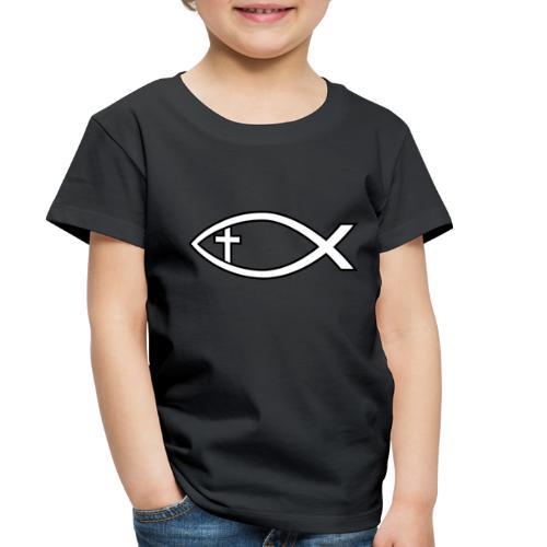 Ichthus with Cross Christian Fish Symbol - Toddler Premium T-Shirt