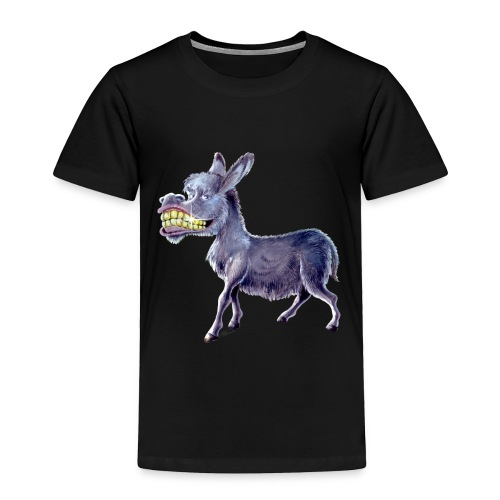 Funny Keep Smiling Donkey - Toddler Premium T-Shirt