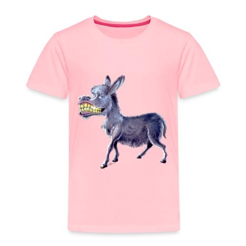Funny Keep Smiling Donkey - Toddler Premium T-Shirt