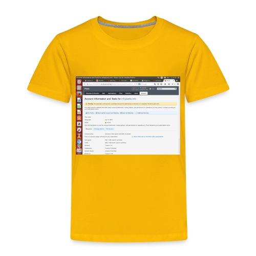 Screenshot from 2016 09 07 02 14 53 - Toddler Premium T-Shirt