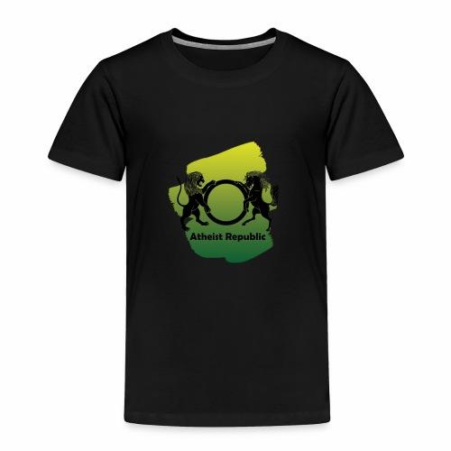 Atheist Republic Logo - Yellow & Green Paint - Toddler Premium T-Shirt
