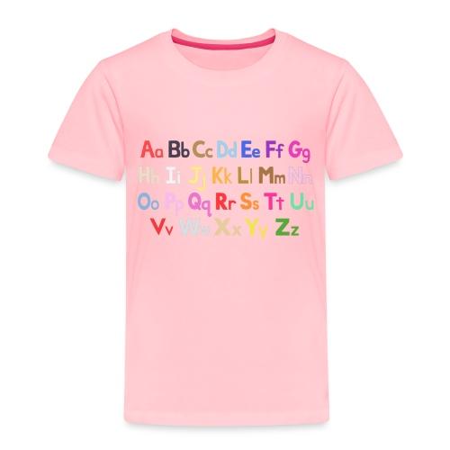alphabet 2 - Toddler Premium T-Shirt