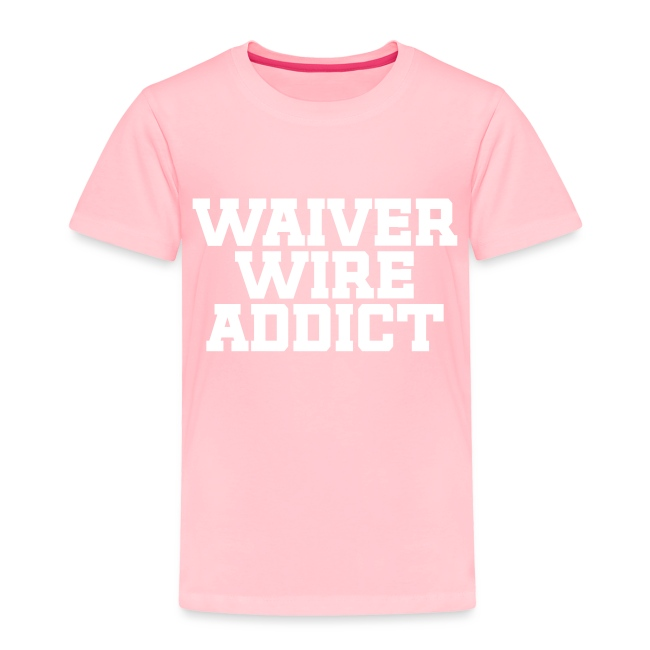 Waiver Wire Addict (Turquoise & Metallic Gold)