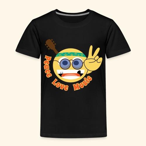 Peace love music hippie smiley - Toddler Premium T-Shirt