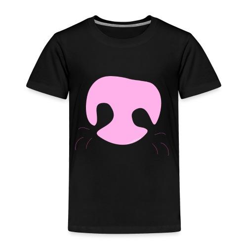 Pink Whimsical Dog Nose - Toddler Premium T-Shirt