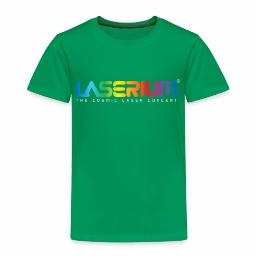 Laserium Logo Colors WhiteTag - Toddler Premium T-Shirt