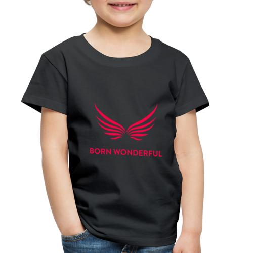 Red Born Wonderful Logo - Toddler Premium T-Shirt