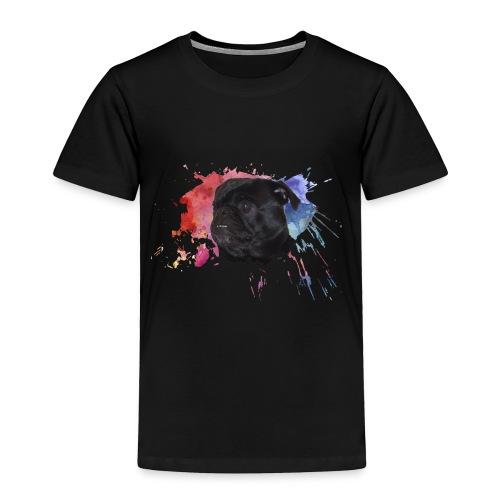 Pug Paint Splatter - Toddler Premium T-Shirt