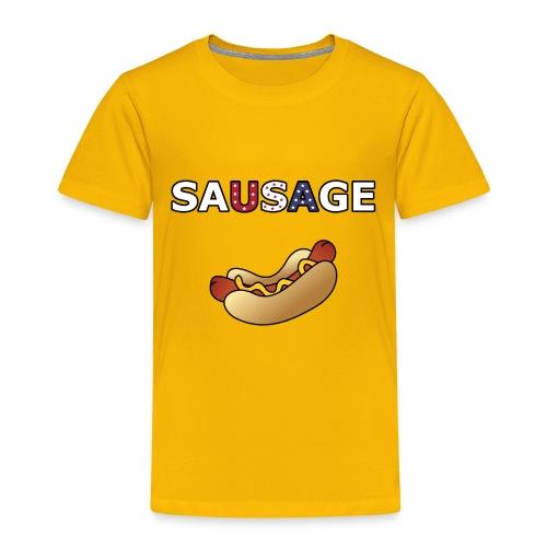Patriotic BBQ Sausage - Toddler Premium T-Shirt
