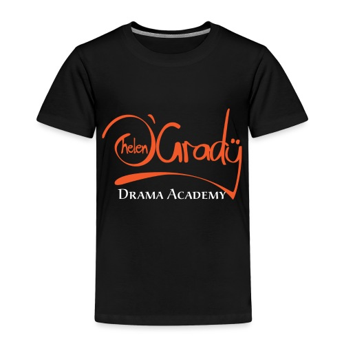 Helen O'Grady Orange Logo on Black - Toddler Premium T-Shirt