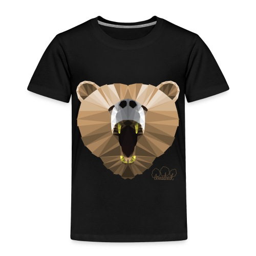 Hungry Bear Women's V-Neck T-Shirt - Toddler Premium T-Shirt