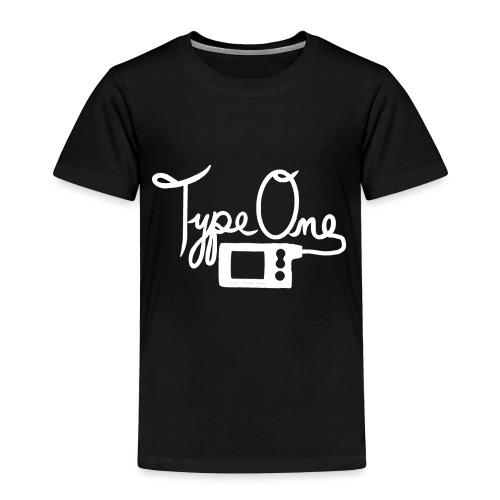 Type One - Insulin Pump 2- White - Toddler Premium T-Shirt