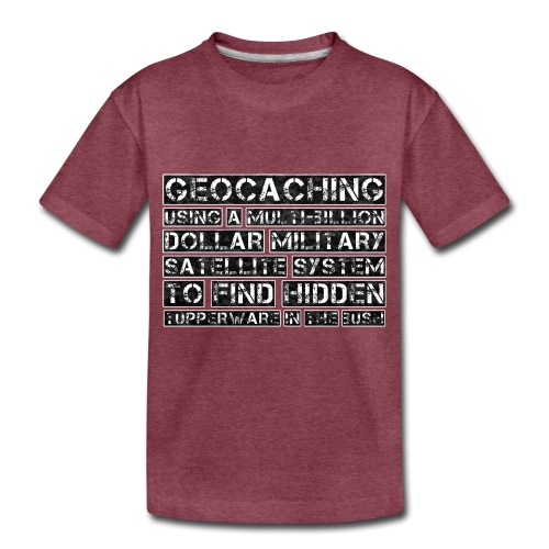 Geocaching Camo Satellite - Toddler Premium T-Shirt