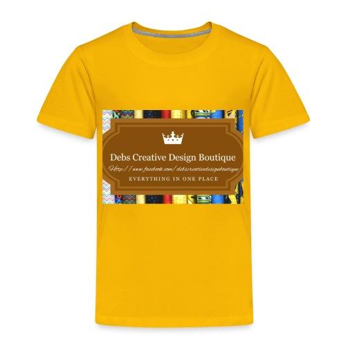 Debs Creative Design Boutique with site - Toddler Premium T-Shirt