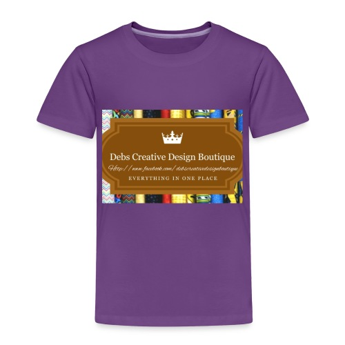 Debs Creative Design Boutique with site - Toddler Premium T-Shirt