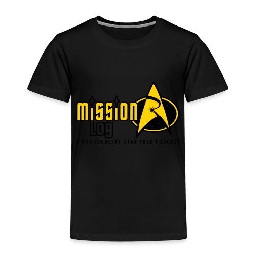 Logo Wide 2 Color Black Text - Toddler Premium T-Shirt