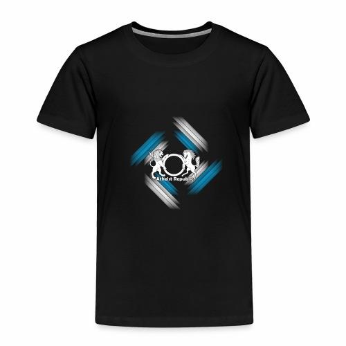 Atheist Republic Logo - Blue & White Stripes - Toddler Premium T-Shirt