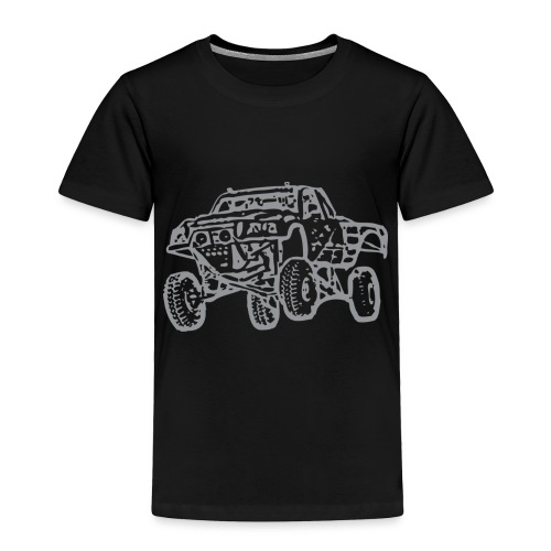 Jump Truck Grey - Toddler Premium T-Shirt