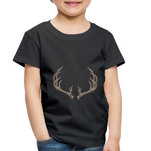 Antlers Illustration - Toddler Premium T-Shirt