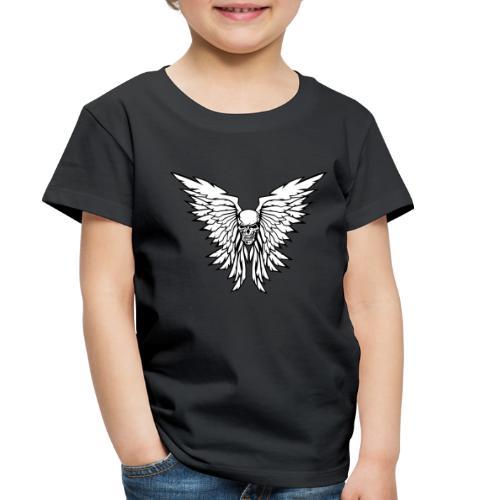 Classic Old School Skull Wings Illustration - Toddler Premium T-Shirt