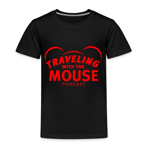 TravelingWithTheMouse logo transparent RED - Toddler Premium T-Shirt
