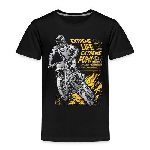 Extreme Life Motorcycle - Toddler Premium T-Shirt